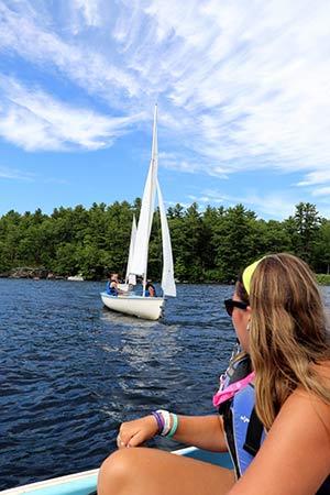 Anne Teaching Sailing
