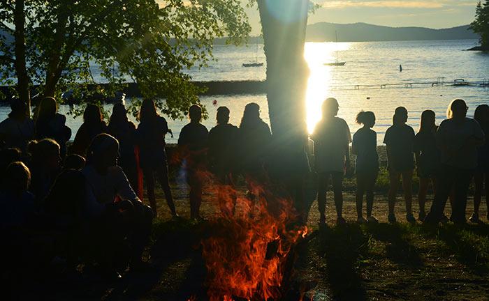 Campers at Camp Wawenock
