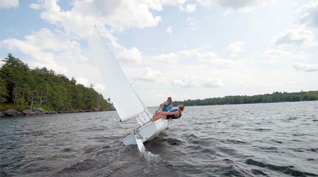 Sailing on Lake Sebago